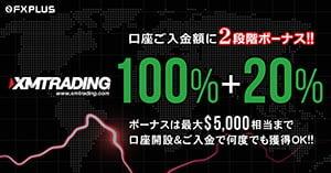 XMTrading 最大 $5,000迄の2段階入金ボーナス加算キャンペーン